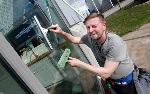 Fönsterputs på Marbodalkök Tornby